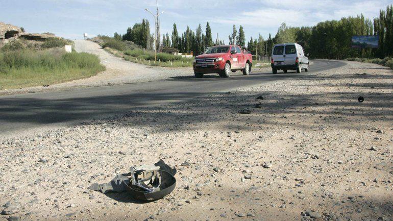 El accidente se produjo en Ruta 7 y calle 11 de Vista Alegre.