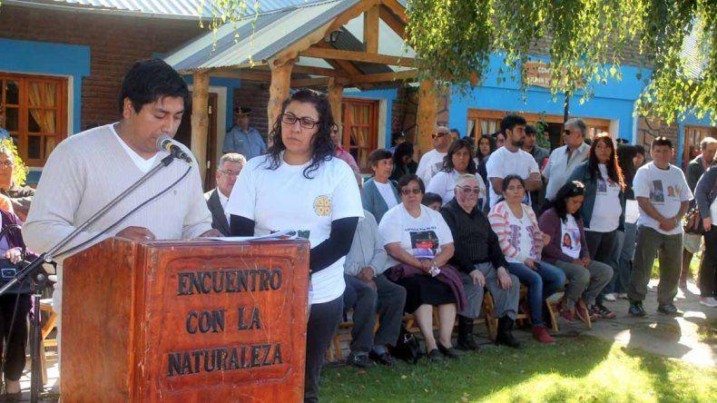 El acto recordatorio por la muerte de Aigo se realizó hoy en Junín de los Andes.