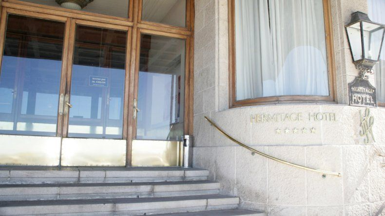 El frente del Hotel Hermitage de la ciudad de Mar del Plata.