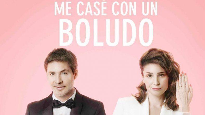 El póster de la película con una dupla que ya tuvo otro éxito al interpretar a una pareja poco común.
