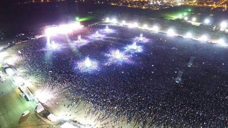 Si bien los números oficiales dicen que fueron 150 mil las personas presentes