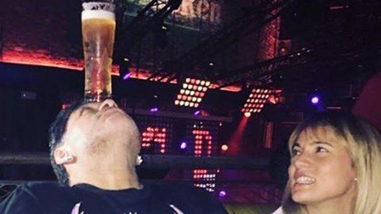 Dubai. Rocío y Jana Maradona publicaron fotos de sus salidas nocturnas con Diego.