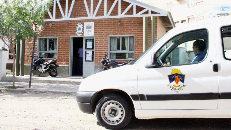 La Comisaría 21 del barrio Melipal intervino en el episodio. Captura del video del intento de linchamiento.