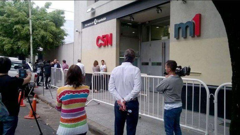 La sede de C5N también fue allanada ayer por orden judicial.