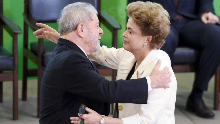 La actual presidenta de Brasil quiere a Lula en su gobierno.