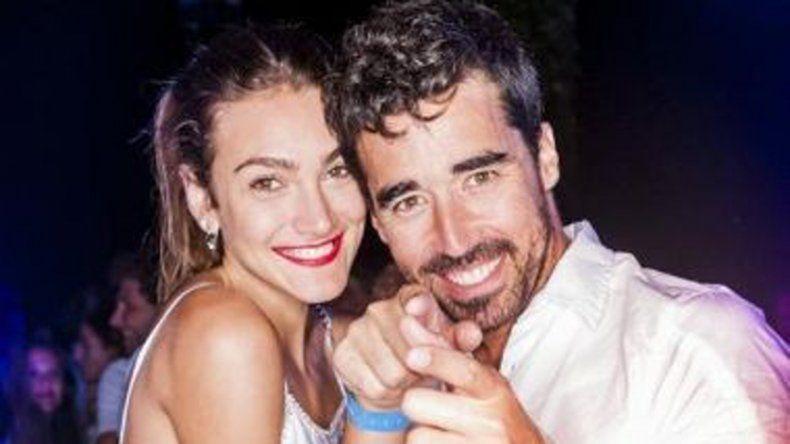 Nacho y Lucía en una fiesta de Chandón. Él la dejó para salir con Pampita
