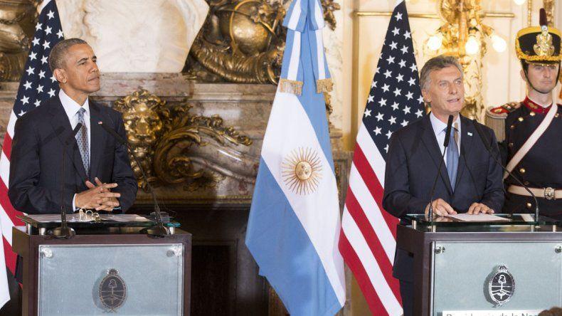 Junto al presidente Mauricio Macri