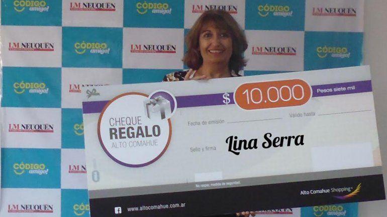 Lina ya tiene los $10 mil para disfrutar en el shopping