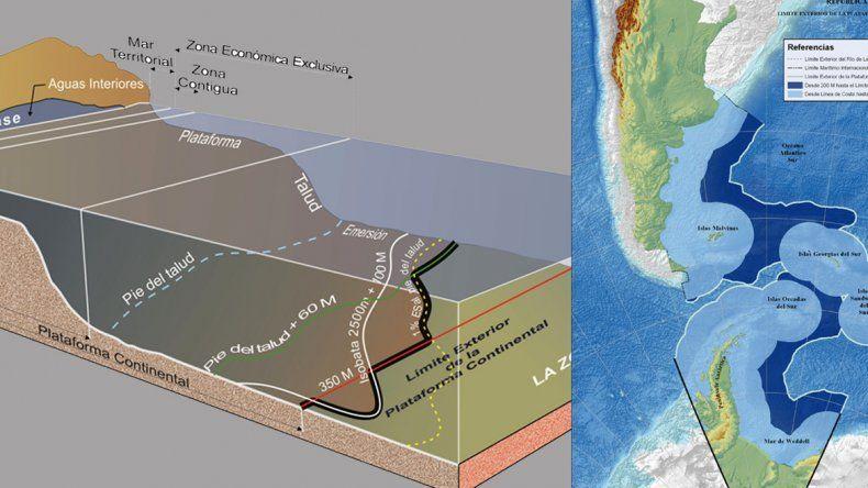 Así es la nueva Argentina tras la extensión de la plataforma marítima