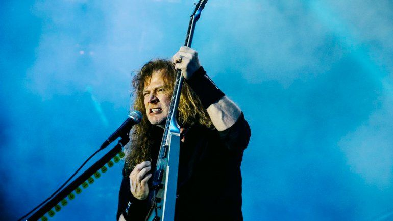 Dave Mustaine alegró a los metaleros valletanos con un rotundo Yes
