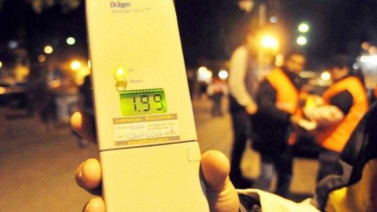 Los controles de alcoholemia se realizan por sorpresa en distintos puntos de la ciudad.