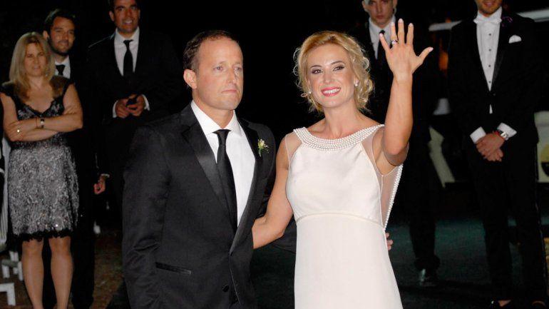Al altar. Jésica Cirio y Martín Insaurralde dieron el sí en noviembre de 2014.