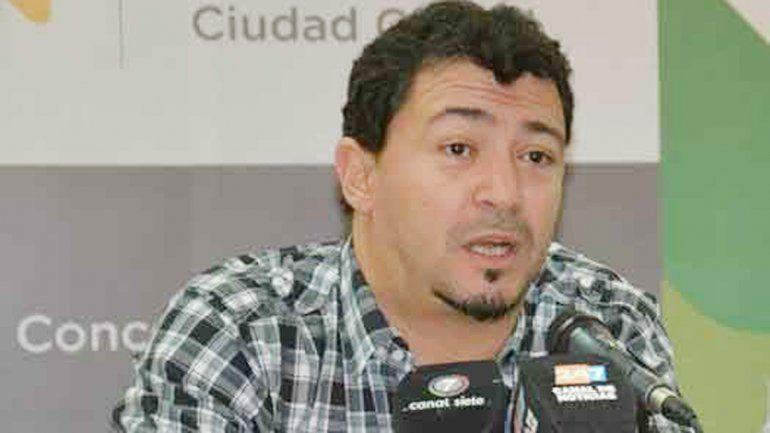 Sebastián Gamarra durante la conferencia de prensa.