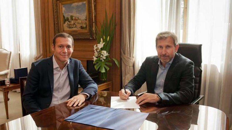 El gobernador Gutiérrez firmó hoy un convenio marco con el ministro del Interior