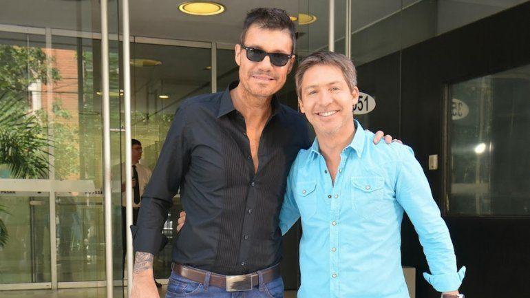 Marcelo Tinelli y Adrián Suar.
