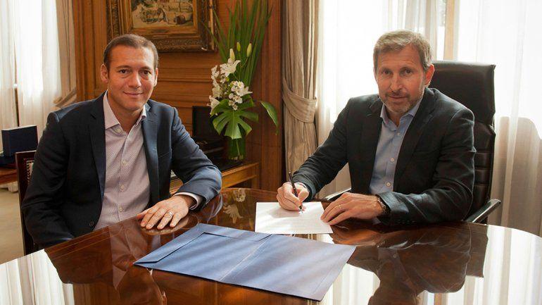 El gobernador estuvo ayer en Buenos Aires. En la foto
