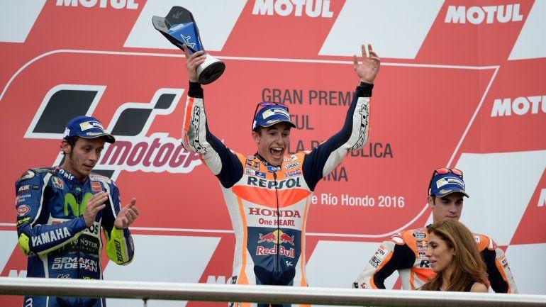 El español Marc Márquez se quedó con el gran premio de MotoGP
