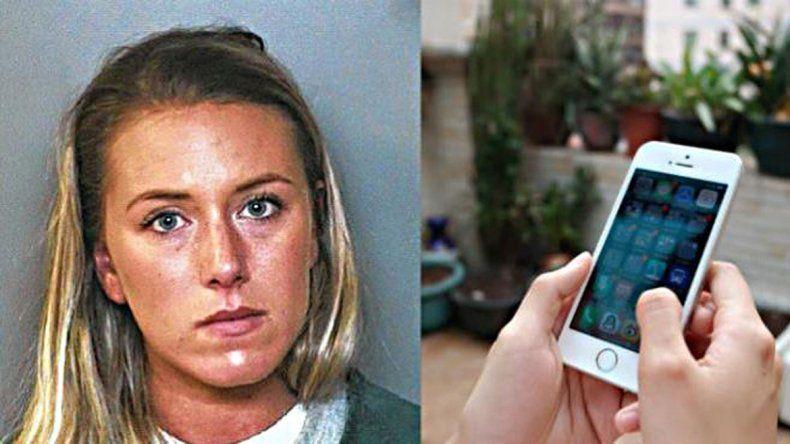 La mujer fue denunciada por sus compañeros de trabajo.