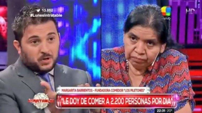 El defensor K no se arrepiente de su trato hacia la trabajadora social Margarita Barrientos.
