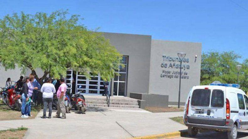 La sede judicial de Añatuya donde se sustancia la investigación.