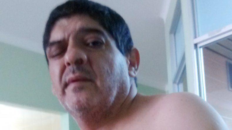 Héctor Montecino en el hospital