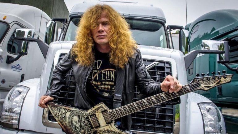 Dave Mustaine fue quien levantó el pulgar en Twitter y confirmó el show de la banda en Neuquén.
