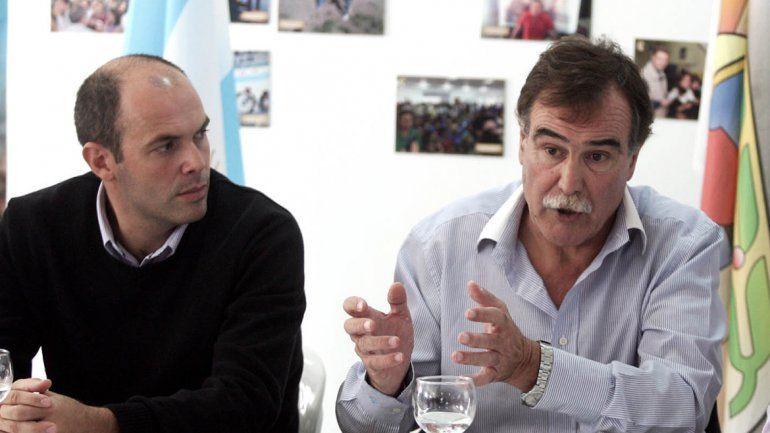 El intendente Esteban Cimolai y el diputado Javier Bertoldi.