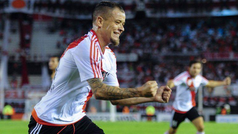 El desahogo de DAlessandro tras convertir su primer gol en River desde que pegó la vuelta al club.