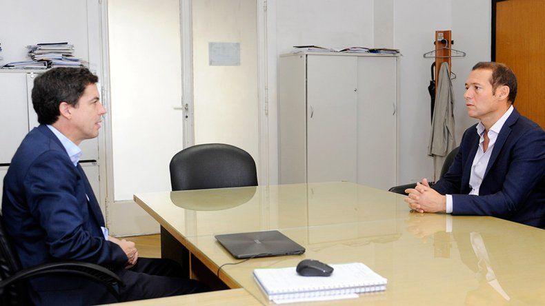 El gobernador Gutiérrez y el subsecretario de Recursos Hídricos de la Nación