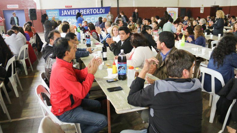 El almuerzo en Centenario con militantes de toda la provincia.