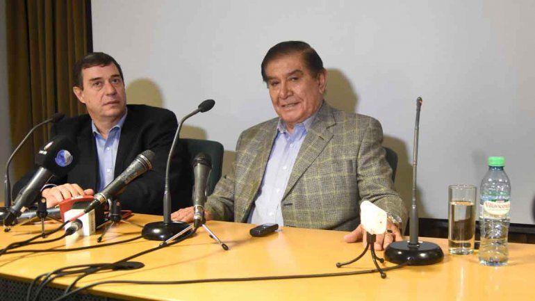 Conferencia de prensa de Norberto Bruno y Guillermo Pereyra.