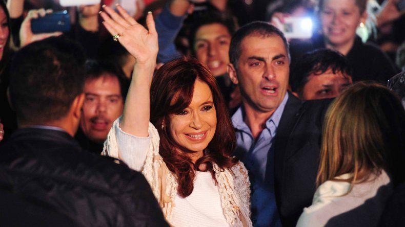 La ex presidenta Cristina Fernández de Kirchner llegó a las 22.46
