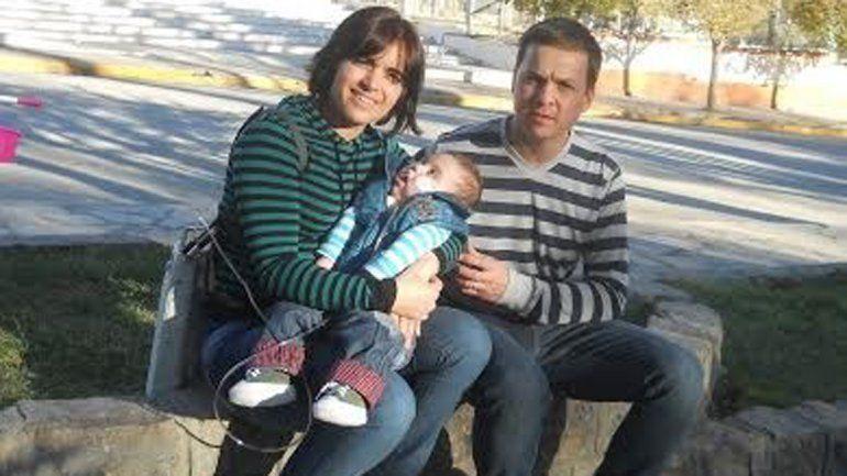 Verónica y Cristian junto a Genaro