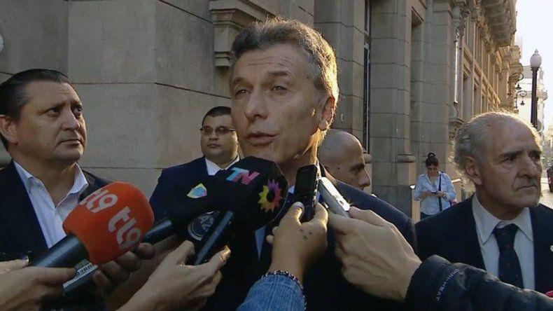 Macri calificó de desafortunado al acto de Cristina en Tribunales
