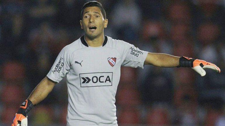 Martín Campaña se adueñó del arco de Independiente.