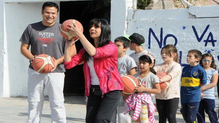 El barrio San Lorenzo recuperó un playón recreativo para la juventud