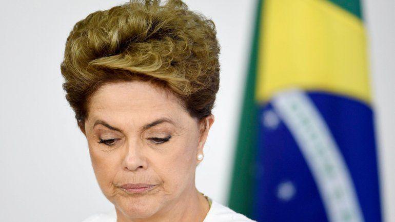 La presidenta de Brasil afronta su peor momento político.