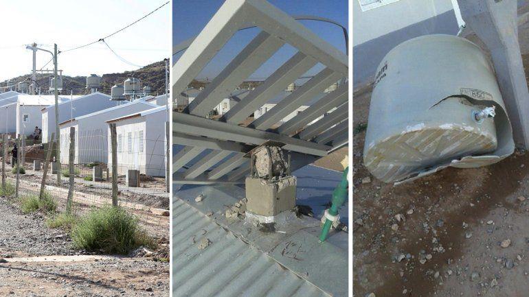 Los soportes para los tanques de agua no aguantaron las ráfagas de más de 70 km/h en Cuenca XVI.