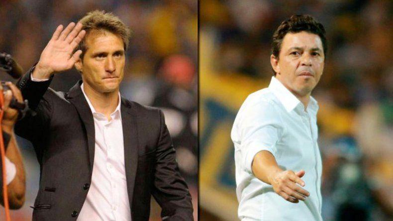 Guillermo Barros Schelletto y Marcelo Gallardo.