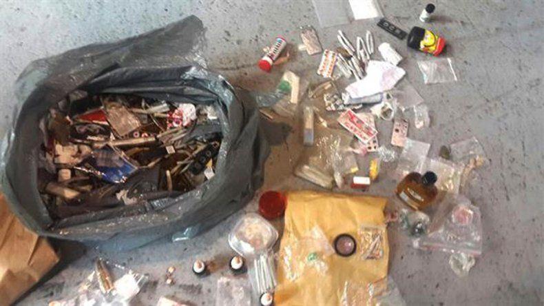 Algunas de las drogas que fueron decomisadas en la fiesta.