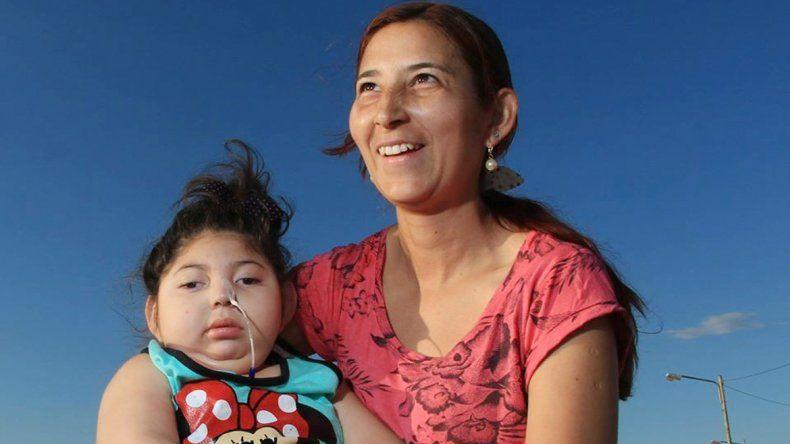 Julieta Santivañez tenía 4 años. En la foto