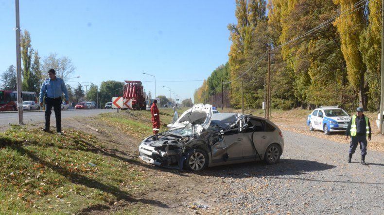 El accidente ocurrió sobre Ruta Nacional 22 a la altura de calle San Julián