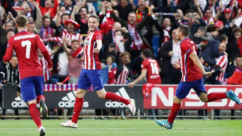Saúl anotó un verdadero golazo que le sirvió al Colchonero para ganar. Augusto Fernández fue titular.