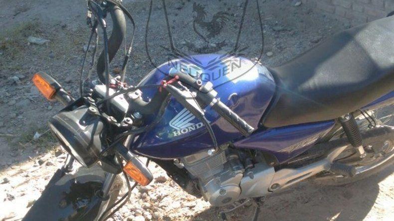 La Honda 150 cc. en la que se movilizaban los motochorros.