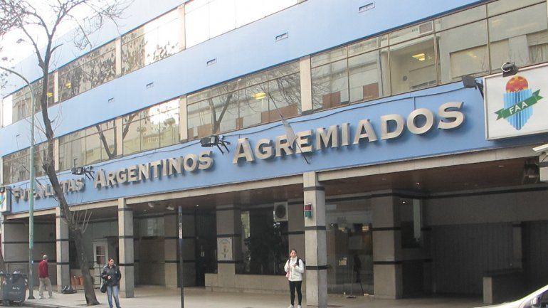 La sede de Futbolistas A. Agremiados. La AFA que dejó Grondona...