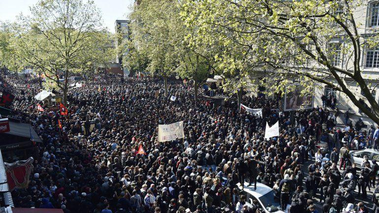 París fue protagonista de una de las manifestaciones más numerosas.