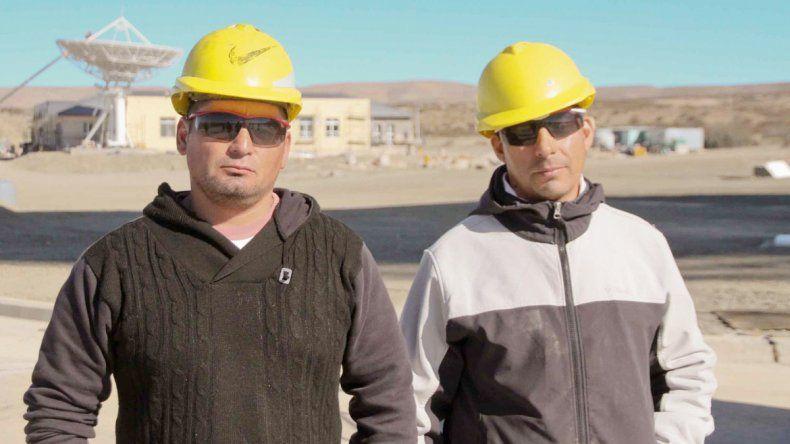 Javier Sepúlveda y José Rubilar son delegados de la UOCRA.
