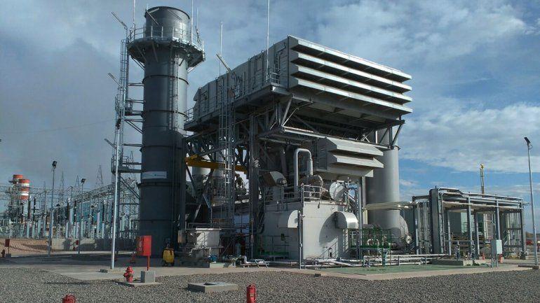 Nueva turbina que inauguró Pampa Energy en Loma de La Lata.