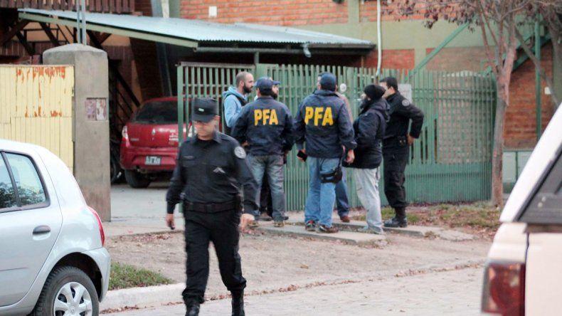 La Policía hizo el procedimiento en la vivienda de la calle Lamadrid al 500.