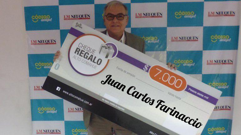Juan Carlos ya tiene sus $7 mil para gastar en el shopping